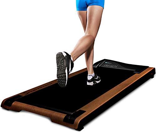 DESKFIT Tapis roulant pour bureau - en bonne santé au bureau et à la maison | exercice et travail ergonomique | très silencieux et facile à ranger | Inclut un support de tablette pratique | DFT200