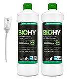 BiOHY Reinigungsmittel für Saugwischer (2x1l Flasche) + Dosierer | 1:100 Konzentrat für alle...