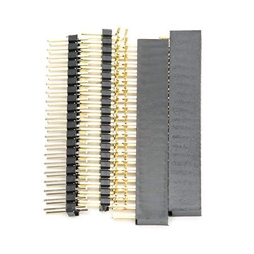 T opiky Pin Header 40 Pin für Raspberry Pi Zero W Zubehör Computer Breadboard Connector Sortiment, männlicher und weiblicher Shield Pin Header