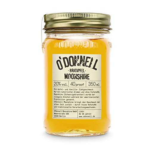 "O'Donnell Moonshine ""Bratapfel"" Likör (350 ml) I Made in Germany I Natürliche Zutaten I Premium Schnaps nach Amerikanischer Tradition I 20% Vol. Alkohol"