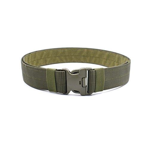 BESTOMZ Cinturón táctico - Cinturón militar para exteriores ajustable con hebilla de liberación rápida 120x5.5x0.3CM (Verde militar)
