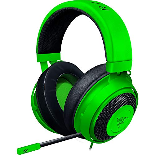 Razer Kraken Green アナログ接続 ゲーミングヘッドセット PS4 PC Switch スマートフォン 冷却ジェルパッド...