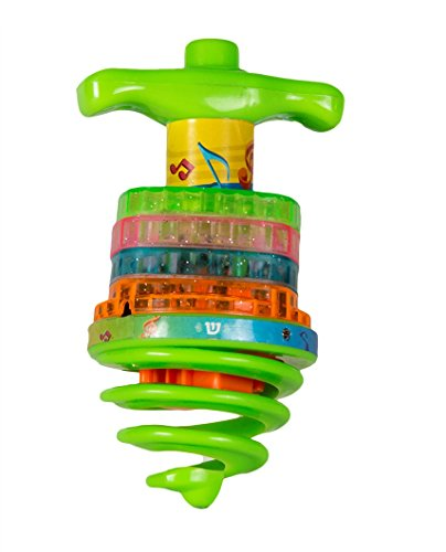 Izzy 'n' Dizzy Bouncing Musical Chanukah Dreidel - Sings Draidel as it Bounces and Spins - Hanukah Toys, Games - Assorted Colors