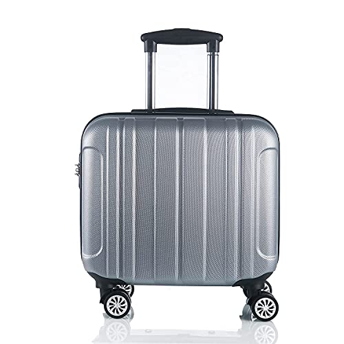 QIXIAOCYB Maleta de viaje universal de negocios para equipaje para hombres y mujeres, color rosa de 16 pulgadas (color: plata, tamaño: 16 pulgadas mejora)