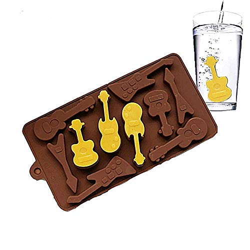 New Product Silicone Mold 10 Even Guitar Shapes 3D Chocolate Mould Ice Cube Tray Mold DIY Baking Molds Pudding Mold Cake Decorating