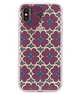 Kate Spade New York Women's Graphic Clover Phone Case for iPhone Xs Max