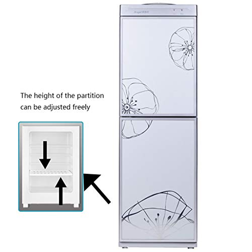 DLT Top Loading Water Cooler Dispenser, 5 Gallonen Freistehende Wasserspender Mit 0,6-Fuß-Lagerschrank, 2 Temperatureinstellungen, Edelstahl, Splitter (Size : Cold Water+Room Temp)