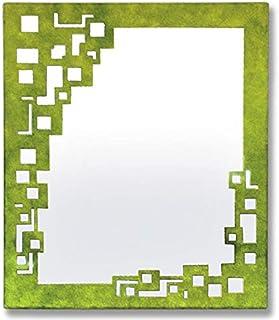 Espejo de forja Cuadros - 6-Negro, 88 x 75 centímetros