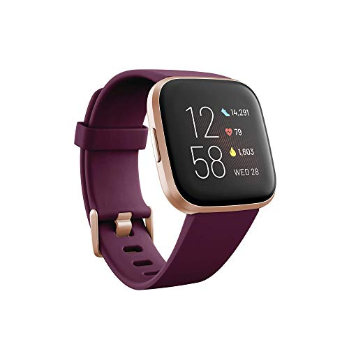 Fitbit Versa 2, el smartwatch que te ayuda a mejorar la salud y la forma física, y que incorpora control por voz, puntuación del sueño y música, Burdeos - Amazon Alexa Integrada