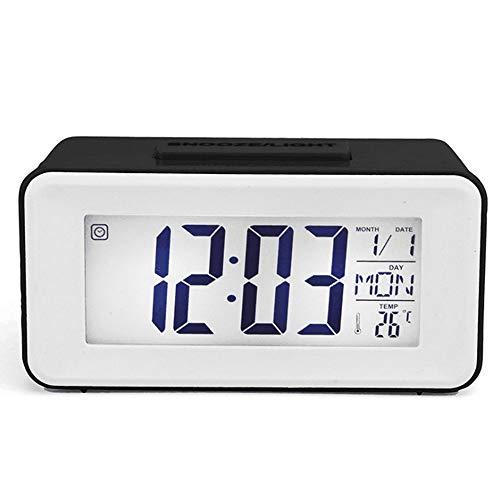 Litthing Digital Alarma Despertador Reloj Alarma Batería Reloj de Cabecera Pantalla de...