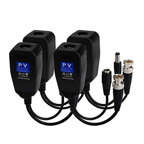 ZHANGAIGUO CCCZY 5 Pares (10pcs) CCTV Coax BNC Video Power Balun Conectores...