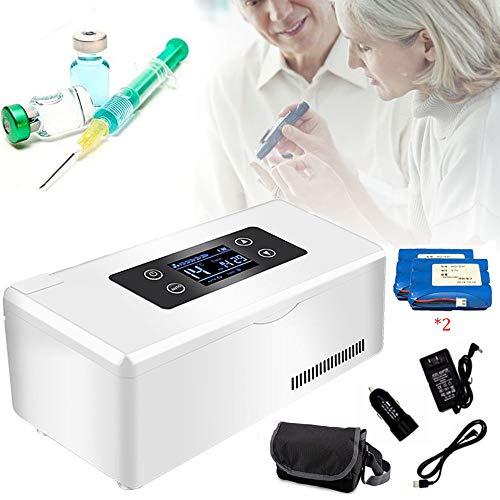 Frigo Portatile Elettrico, Refrigeratore per Insulina, Conservazione 2-25 ℃ per 8 Ore, Mini Frigorifero Medico Intelligente, Adatto per Auto, Viaggi, Frigoriferi per Medicinali (Batteria Integrata)