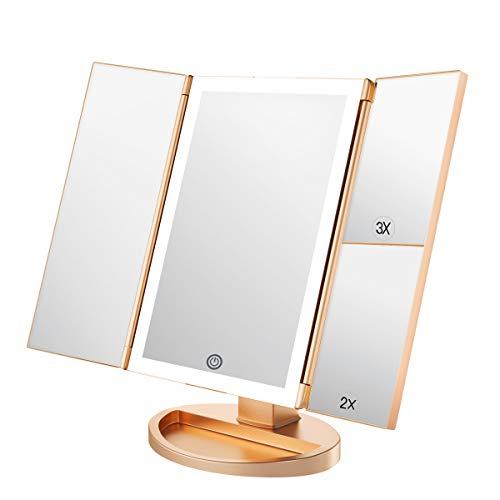 WEILY Specchio per Il Trucco con Luce a LED con...