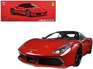 Bburago 16905R Ferrari 488 GTB Red Signature Series 1/18 Diecast Model Car
