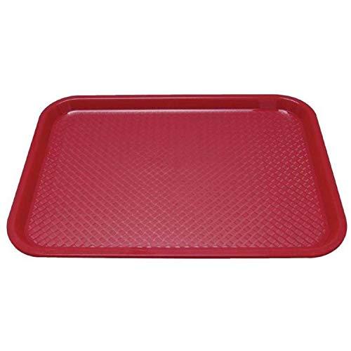 Nisbets 6 x Tablett, Kantinentablett, Kunststoff, rot