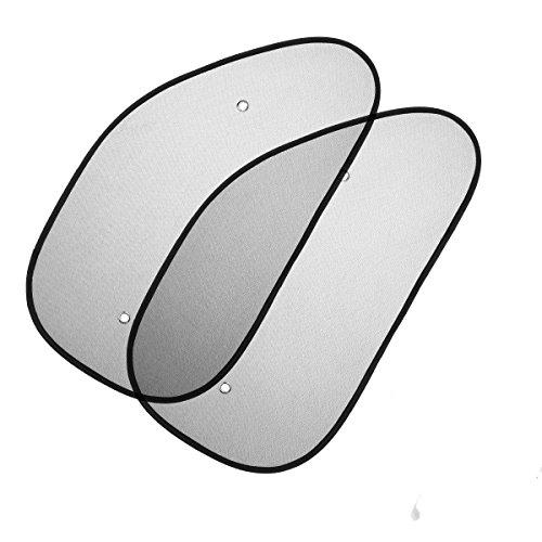 WINOMO Parasol coche panel lateral para coche protección rayos UV retráctil con funda (2pcs)