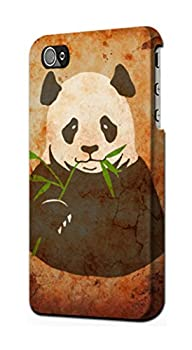 R2759 Panda Eat Bamboo Vintage Texture Case Cover For IPHONE 5C