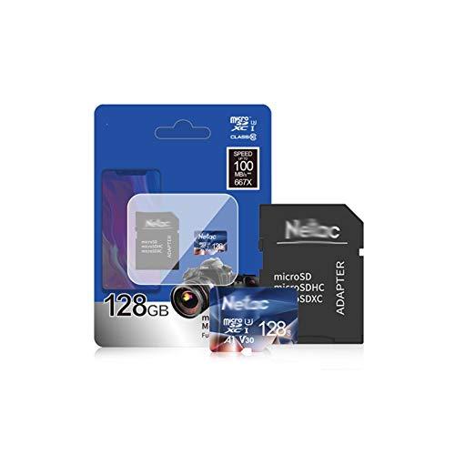Tarjeta de memoria Micro SD 128 GB 32 GB 256 GB 512 GB tarjeta micro SD 16 GB 64 GB tarjeta de memoria TF flash para teléfono intercambiable tarjeta micro SD 64 GB (capacidad: 128 GB y adaptador)