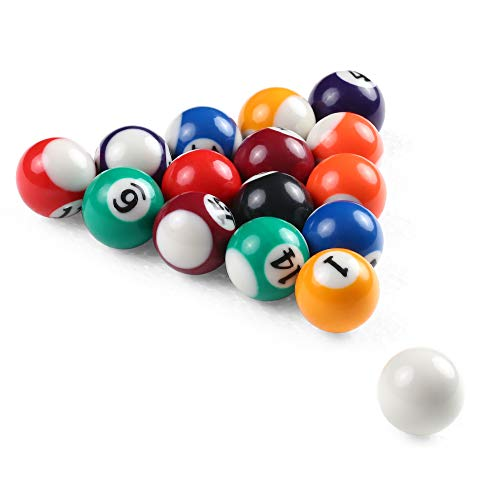 Festnight 25 MM / 38 MM Kinder Billard Tischkugeln Set Harz Kleine Pool Queue Bälle Full Set