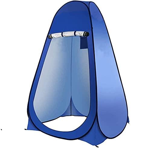 Laelr - Tienda de campaña plegable, portátil, para baño, ducha, como vestidor, para ir a la playa, camping, senderismo, pescar, al aire libre, protección solar instantánea, color azul cobalto