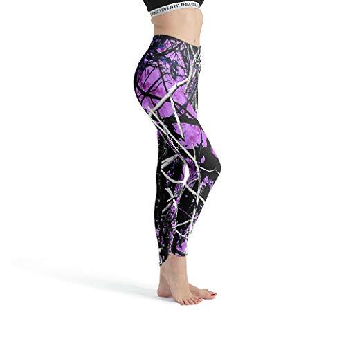 Harberry Pantalones lisos para mujer, violeta, calzas de fuego, sexy, caza, camuflaje capris para mujer, casual, verano, blanco, l