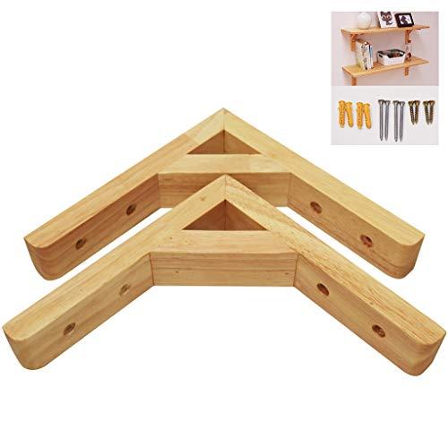 GETZ MSYO brackets 2PCS Lack Oberfläche Regal Unterstützung Hölzern Triangle Bracket Massive Kiefer Wandhalterung Holzplatte Hochleistungsregal Stützen für DIY Customize