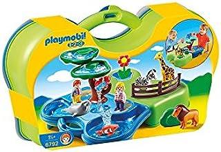 Playmobil 1.2.3 Zoo y Acuario Maletin