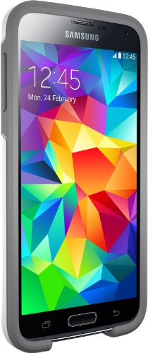 Otterbox Symmetry Series for Samsung Galaxy S5 - Retail Packaging - Glacier (White/Gunmetal Grey)