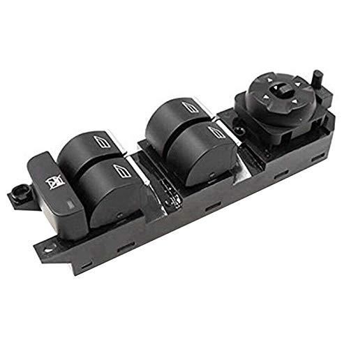 KUANGQIANWEI Botonera elevalunas Interruptor de Ajuste de la Ventana de energía for Ford Mondeo MK4 Galaxy S-MAX 07-12 7S7T14A132BC 7S7T-14A132-BC (Color : Black)