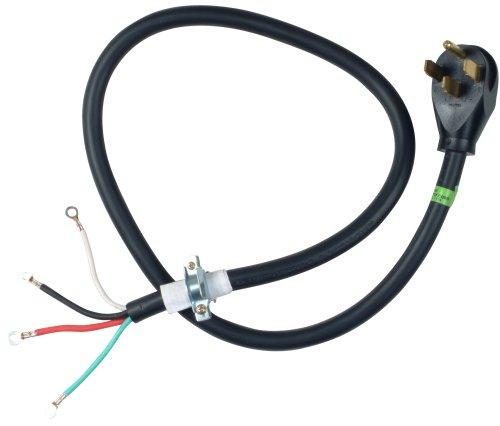 Whirlpool PT400 Electric Range Power Cord, Black, Green, Red, White