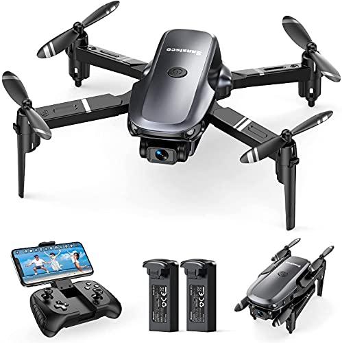Sansisco D15 Mini Drone con Camara 1080P, Drone Plegable con FPV WiFi, Control de Gravedad, Fotografía de Gesto, Ruta de Vuelo Personalizada, Drone para Principiantes con Modo sin Cabeza