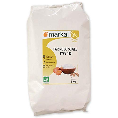 Farine de seigle T130, 1kg, Markal
