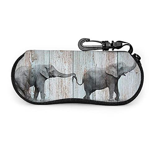735 Funda De Gafas Imprimir Elefante En Madera Caja De Almacenamiento De Gafas Colorido Fundas De Gafas Suave Fácil De Cargar Gafa De Sol Bolsa Para Varios Vasos, Lápices, Joyas, Dinero