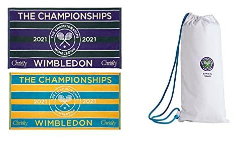 Wimbledon 2021 - Juego de 2 toallas de tenis para hombre y mujer
