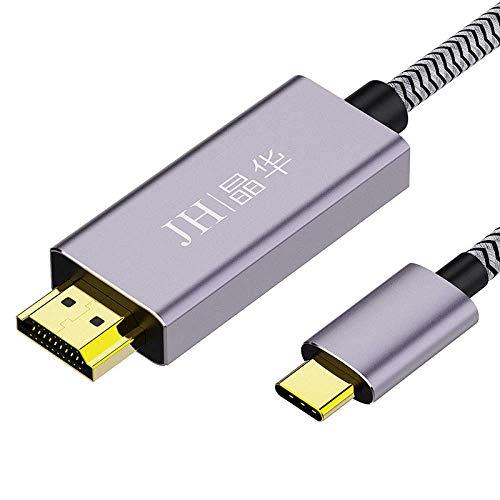 NMD&LR Cable De Conversión, Interfaz Tipo C a Interfaz Hdmi, El Teléfono Móvil Se Puede Conectar a Una Computadora HDTV