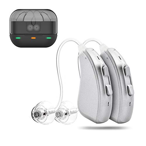 AUSTAR Rechargeable Hearing Amplifier for Adults, Dual Microphone Improve Sound Location,Voice Enhancer Device Aid and Assistant Hearing for TV and Talking (2 Pieces)