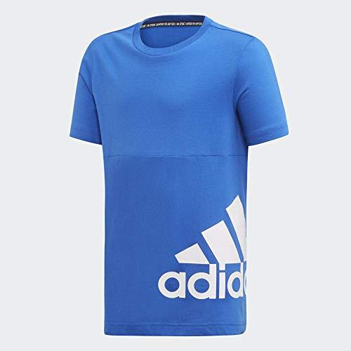 adidas Performance Must Haves Badge of Sport Trainingsshirt Kinder blau/weiß, 116