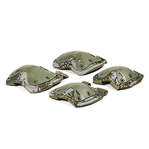 LOREMYI War Game Protektor Paintball Airsoft Jagd Schutz Kriegsspiel Knie- und Ellenbogenschützer Set schwarz, LOREMYI-6.6-uk-6, camouflage