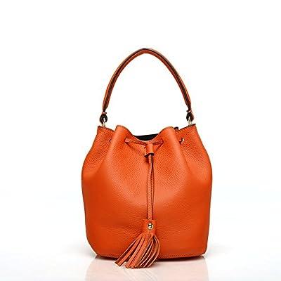 BeerMmay Seau sac Tassel Drawstring femmes fourre-tout Sac bandoulière en cuir sac à main en cuir