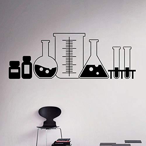 TYLPK Labor Glas Wandtattoo Vinyl Aufkleber Chemie Klassenzimmer Kunst Dekor Home Interior Room Custom Design Fenster Schlafzimmer