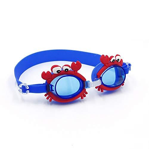 SWJJ Soft Seal Gafas de natación para niños Puente Nasal Ajustable Protección antivaho y UV y Broche de Ajuste rápido Gafas de natación