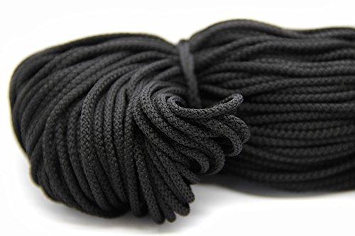 NTS Nähtechnik 100m Kordel, 100% Polyester, Farbauswahl, Breite: 3 mm (schwarz)