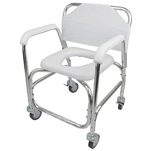 Ayudas Dinámicas QA-00332/01 - Silla de ruedas para baño económica ⭐