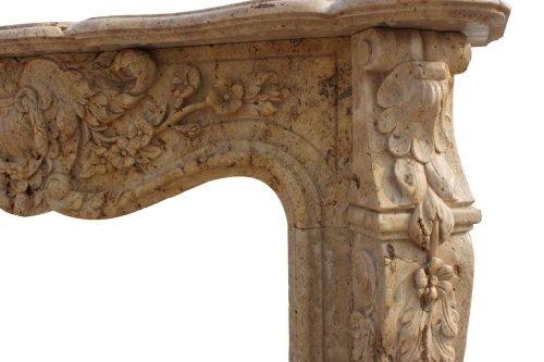Revestimiento para chimenea, piedra natural, mármol, barroco, barroco, fachada