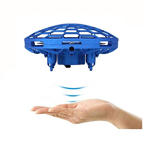 Smart Drone speelgoed for Kids Mini RC Quadcopter Dual Mode Altitude Hold infrarood sensor Hand Controlled Drone for jongens en meisjes Suspension Toys Best Gift, Blauw lili (Color : Blue)