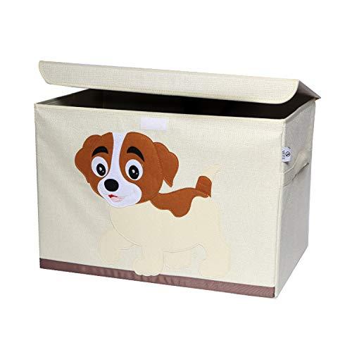 Artli Caja de almacenamiento para juguetes infantiles, caja de juguetes con tapa para la habitación de los niños, caja para juguetes, estantería para perros, 36 x 36 x 51 cm