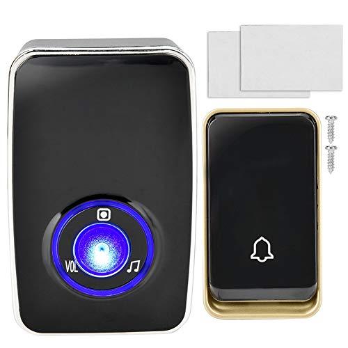 K09 Smart Wireless deurbel, energiebesparend, IP44 waterdicht met stabiel signaal en beveiligingsalarm, batterijloos, mechanische energie zelfvoorzienend, milieuvriendelijk en milieuvriendelijk. (Leeg)