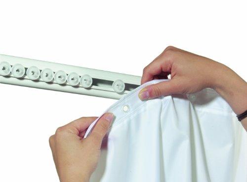 Spirella Gleitrollen für Surprise Duschvorhangstange, 5Stück, weiß/Chrom