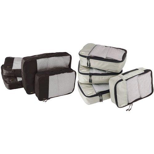 Amazon Basics 8-Piece Packing Cube Set - 2 Large, 2 Medium, 4 Small
