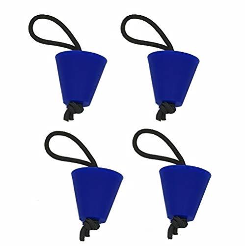 Deals4you 4er-Pack Universal Kajak Scupper Plug Kit, Ersatz für Hobie Kajaks, Native Kajaks, Wilderness Systems Kajaks, Feelfree Kayaks, Wahrnehmungs-Kajaks, Old Town Kajaks (blau)
